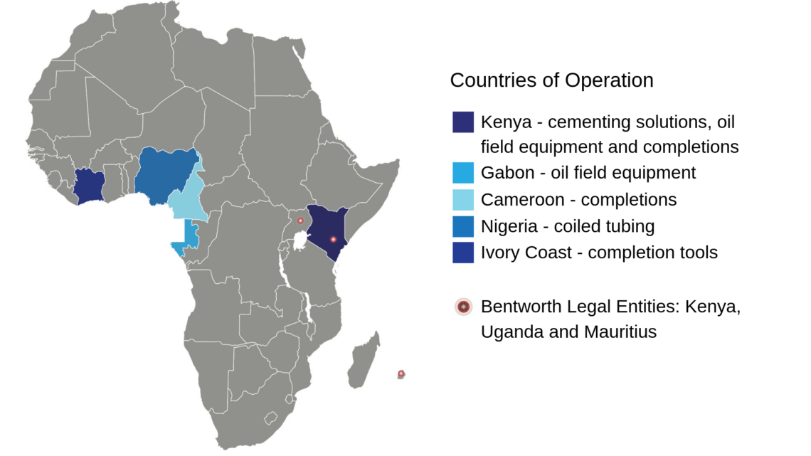 Bentworth Countries of Operation