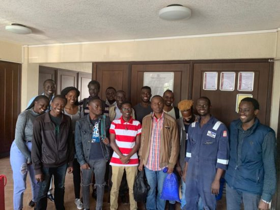 Nairobi University Petroleum Engineers spend the day at Bentworth Energy
